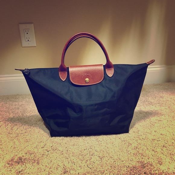 Longchamp Handbags - Longchamp Le Pliage Top-Handle Medium Tote 13f751a155fe6